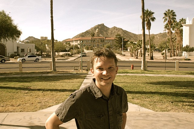 Marcus at the Curley School, Ajo AZ