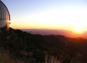 Sunset over Kitt Peak Observatory