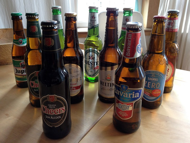 Alcohol free beers from around the world